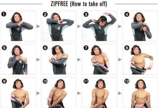 ZIP FREE(How to take off)